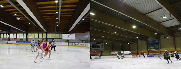 LED Eissporthallenbeleuchtung